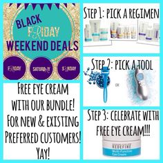 BLACK FRIDAY weekend deal! Have a skin concern? Message me and let's talk! #blackfridaydeal