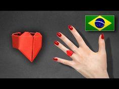 Origami: Anel de Coração - Instruções em Português PT BR - YouTube