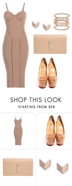 """Untitled #89"" by beautyambition on Polyvore featuring Christian Louboutin, Yves Saint Laurent and FOSSIL"