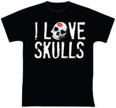 knupSilk - ESTAMPARIA/SERIGRAFIA: I Love Skulls