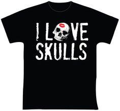 knupSilk - ESTAMPARIA/SERIGRAFIA: I Love Skulls