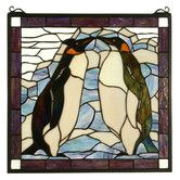 Found it at Wayfair - Tiffany Penguin Stained Glass Window