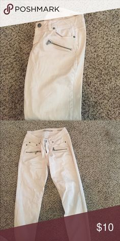 Fashion Jeans Cream colored fashion jeans Max Jeans Jeans Skinny