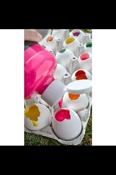 Fill eggs with paint and throw them at each other