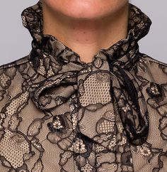 CeCeToppings Ruffled collar - lace #fashion #accessorizes #cecetoppings #collar #buttonshirt #woman #trends #buttondownshirt