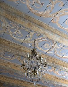 Handpainted ceiling on antique floorboards for an 18th century period room | Artist: Peter Korver | Amsterdam