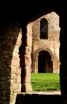 In the ruins, Ludlow Castle