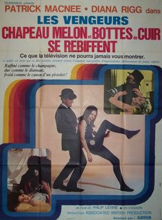 Absolutely fabulous large French poster of the movie with 2 episodes of the famous UK TV series The avengers with Diana Rigg. The Avengers, Julie Stevens, Patrick Macnee, Diana, Movie Market, Original Movie Posters, Cult Movies, Vintage Movies, Film