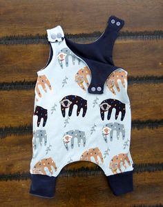 Baby Harem romper/ Baby boy romper/ Baby boy gift/ Jersey knit romper/ Organic baby clothes /Baby girl outfit/ Sloth baby clothes /unisex