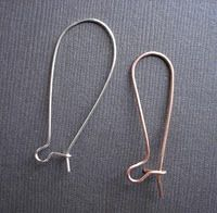 How to Make Long Kidney Ear Wires Tutorial