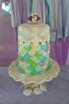Partylicious: {Mermaids Under the Sea Birthday}The Cake