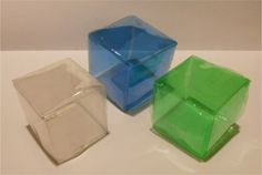 Recycle~ DIY Cube. Easy instructions. Reutilizando botellas plásticas - EL CUBO