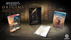Assassin's Creed Origins: Books & Comics  Assassin's Creed Origins Desert Oath, the prequel novel to the game.  The Art of Assassin's Creed Origins unveils the secrets behind the game's creation though a vast collection of art: concept sketches, city plans, character studies, and stunning paintings.  The official strategy guide contains a general Weapons and Equipment guide and a 100% completion walkthrough along with detailed maps flagged with all locations, collectibles and targets. It…
