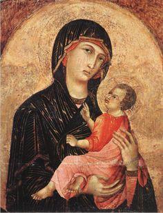 Duccio, Madonna and Child (no. 593), 1280, tempera on wood (Pinacoteca Nazionale, Siena)
