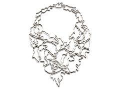 Nathalie Jean Collection Informe  INF01 Collier pectoral 32 éléments en ruban d'argent massif Edition de 25 - 4.780€