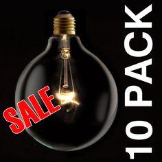 Industrial Vintage Style 125mm Clear Globe Lamp Light Bulb Edison Screw ES