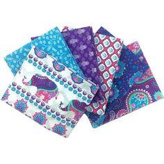 Indian Garden Purple Fat Quarters 6 Pack | Hobbycraft