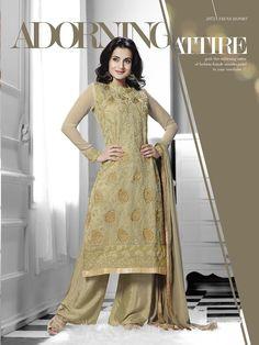 Gorgeous Beige Amisha Patel Georgette Salwar Kameez Buy Online Krishna Emporia