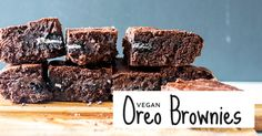 Rich, chocolatey brownies with a creme filled, Oreo centre. That's right: homemade, vegan Oreo brownies can be yours in just 40 minutes!
