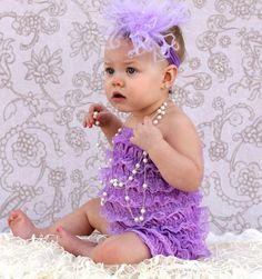 Your little princess will look adorable in one of our Baby Lace Rompers
