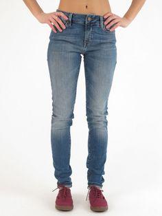 Adriana Ultra Skinny Fit Used Tribeca Jeans for women by Mavi