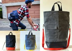 male pattern boldness: waxed canvas bag by Chester Wallace