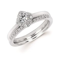 Diamond Halo Semi Mount available for 1/4 Ct. Round Center Diamond in 14K Gold