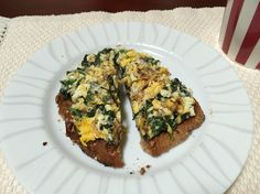 Spinach and goat cheese scrambled eggs