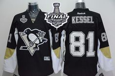 Penguins #81 Phil Kessel Black Home 2017 Stanley Cup Final Patch Stitched NHL Jersey