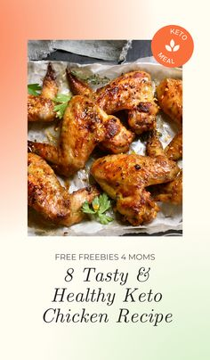 8 Tasty & Healthy Keto Chicken Recipe Chicken is a staple food for any diet where you are looking to cut fat. And these keto chicken recipes are some of the best recipes that you will find if you are just starting out with the keto diet plan. #keto #chickenrecipe #ketomealplan
