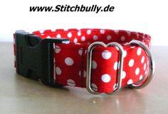 #102 Halsband Gassi Punkte Hund Sterne M/L Retro von stitchbully.de auf DaWanda.com