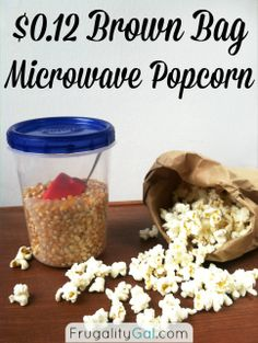 Homemade Microwave Popcorn. Just as easy as store-bought popcorn, just healthier and with a frugal price tag of $0.12 per bag!