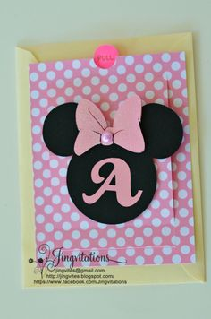 Custom Minnie Mouse Invitations Beautiful Jingvitations Cricut Handmade Minnie Mouse Pop Up Invitations Disney Birthday Card, Cool Birthday Cards, Homemade Birthday Cards, Mickey Birthday, Handmade Invitations, Birthday Invitations, Pop Up Invitation, Minnie Mouse Party, Mickey Mouse
