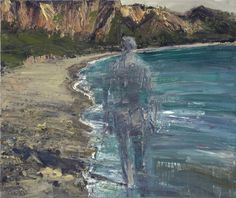 """Euan Macleod (New Zealand, 1956 - ) Going south, North Beach 2014 oil on polyester 84 x 100cm """""""