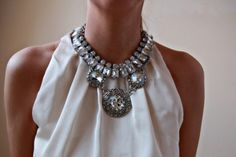 Ultimate rhinestone statement necklace