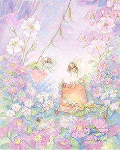 Fairies at Play- Violets
