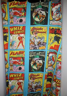 Sale  1975 DC COMIC Bed Spread with BATMAN and Superman and the gang. $95.00, via Etsy.