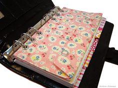 Tasche Einlage Rosa passend für Filofax Personal - ein Designerstück von rainbowcaraways bei DaWanda