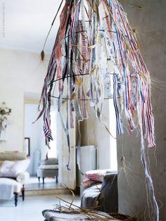 textile scraps make an interesting installation art piece