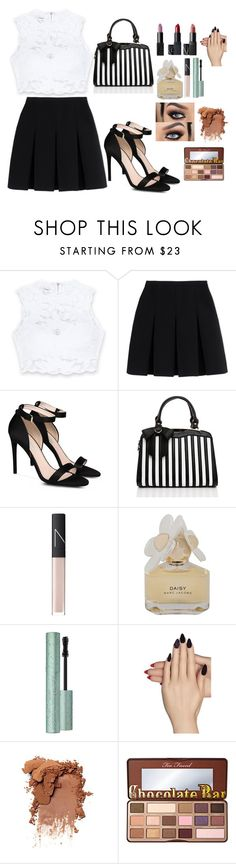 """""""White and Black"""" by queenalisa on Polyvore featuring Bebe, Alexander Wang, STELLA McCARTNEY, NARS Cosmetics, Marc by Marc Jacobs, Static Nails and Too Faced Cosmetics"""