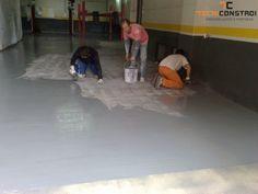 Projecto 162 - Pintura epoxy de pavimento de Oficina | Aplicaçao de epoxy - Nesta fase da obra estamos a fazer a aplicação da pintura epoxy