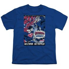 Superman/Meltdown Short Sleeve Youth 18/1 in Royal