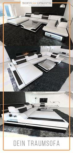 Die weiße Wohnlandschaft Mezzo ist in unterschiedlichen Ausführungen und Farben erhältlich. Bei Sofa-Dreams findest du dein perfektes Luxus Sofa, die bequemsten Couches und weitere Wohnideen für dein modernes und gemütliches Wohnzimmer. #Ledersofa