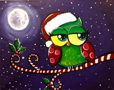 Christmas owl (illustrator unknown)