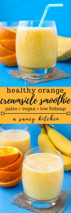 Orange Creamsicle Smoothie. Add some protein powder or Greek yogurt to this smoothie to keep you full longer. All clean eating ingredients are used in this quick, healthy breakfast recipe. Pin now to make this week!