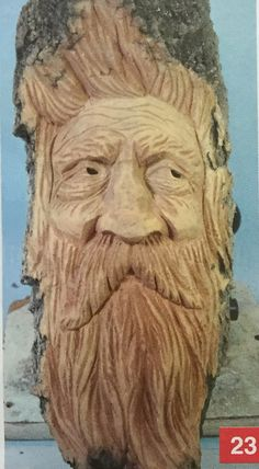 Risultato immagine per Wood Carving Step by Step Wood Carving Faces, Dremel Wood Carving, Wood Carving Designs, Tree Carving, Wood Carving Patterns, Wood Carving Art, Wood Patterns, Wood Art, Wood Carvings