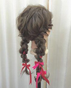 #ヘアアレンジ #ヘアセット#ツインテール#ふたつむすび #リボン#アクセサリー#ループ編み#ウェディングヘア#カクテルドレス#美容師#理容師#美容学生#みつあみ #ママカメラ#がんばれ熊本#hair #ルーズヘア