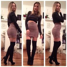 Marianna Herrhofer To, H&M Skirt, Bershka Boots - Satuday fever.. - Aniko V.