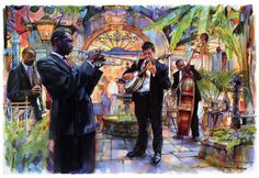 Jazz Cats by Tommy G. Thompson ~ musicians New Orleans