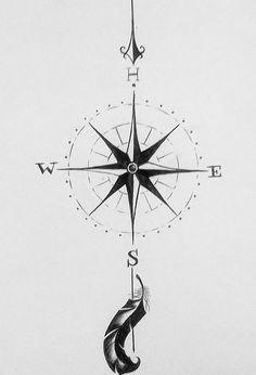 compass tattoo - nice idea for a tattoo